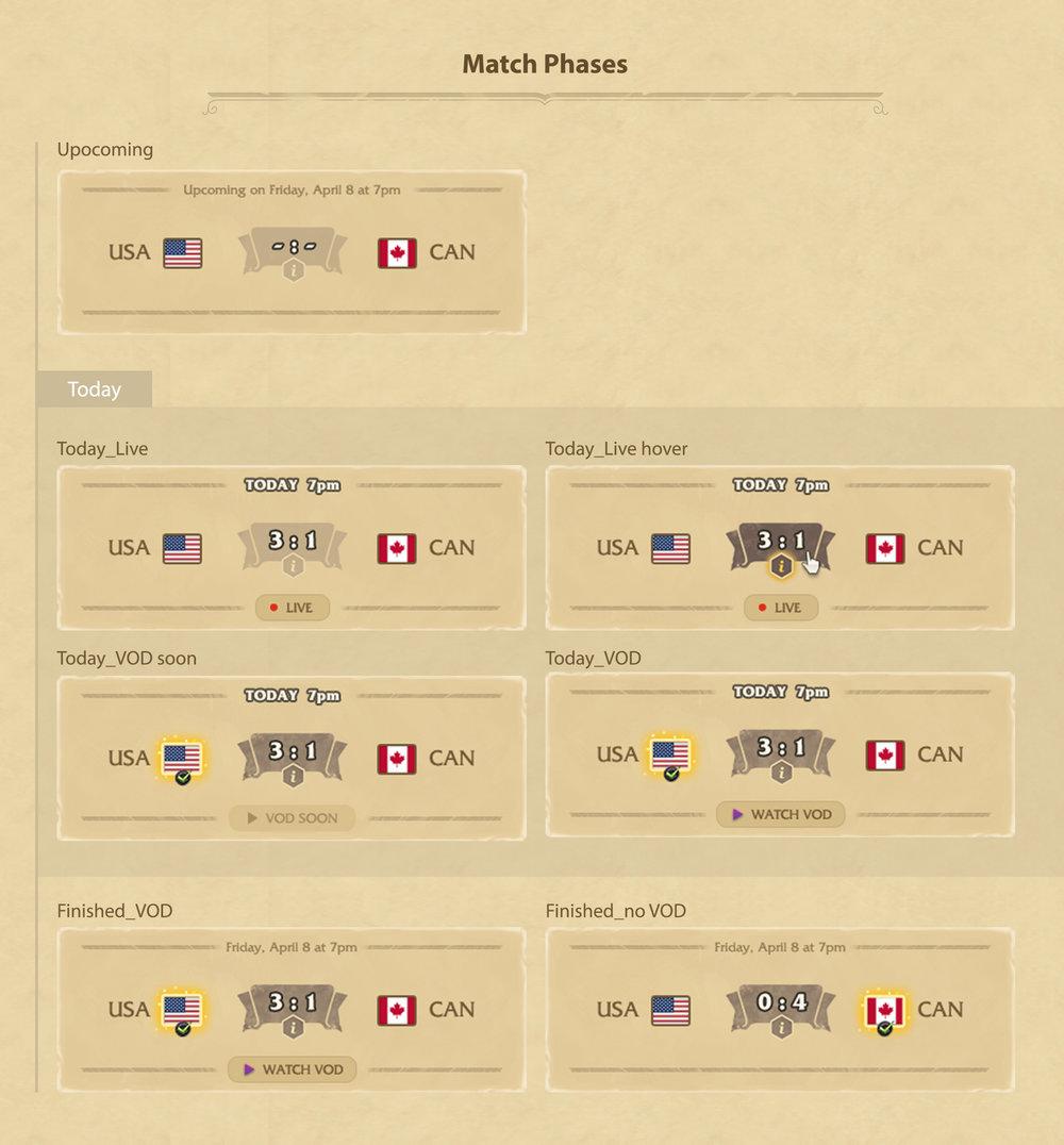 UI - Match Card Module Design