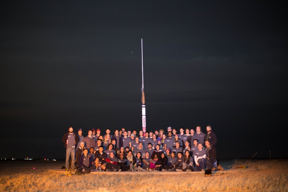 Team photo from the night before the launch