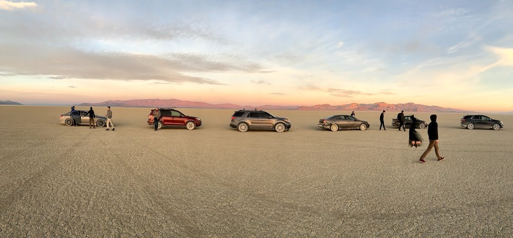 The caravan finally making it onto the playa