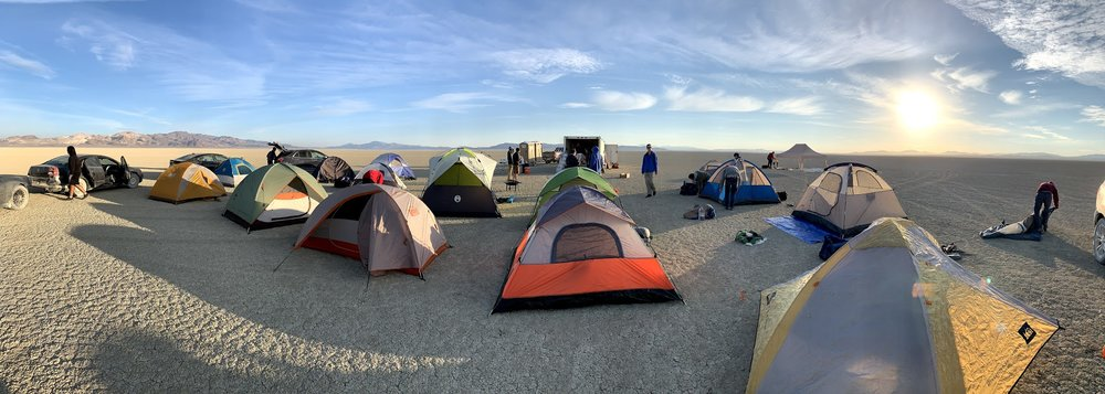 A full view of the campsite on Friday