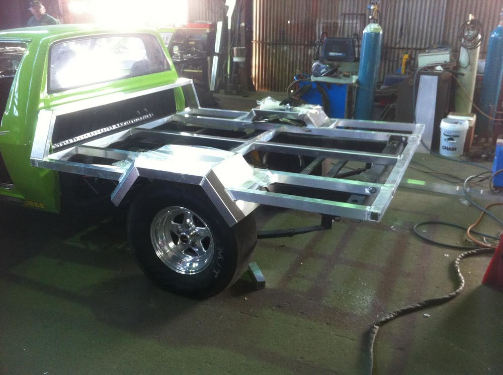 Custom Built Aluminium Tilt Tray for Drag Ute