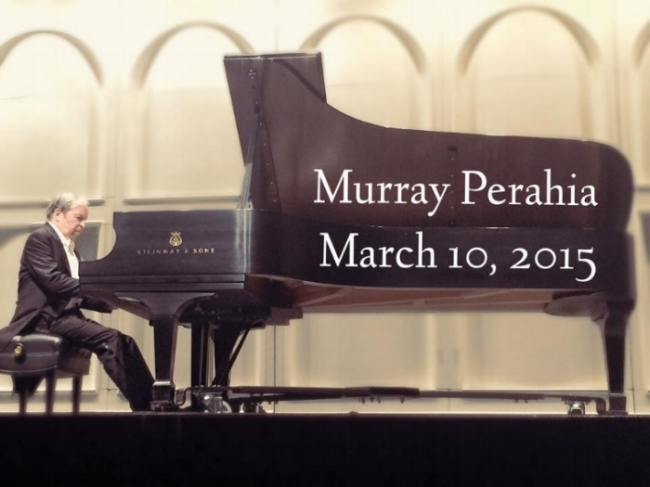 Murray Perahia on stage at UA Centennial Hall, March 10, 2015