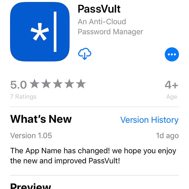 Our latest 2 password management #app's have been #released the new names are #passvult and passvult #lite we have work r long and hard to make these the 2 best #anti #cloud #password #manager's out there in the #Apple #appstore the new name and logos are a closer representation of our #original #mission to keep everybody #safe and #secure and save you from all of the #breaches they have happened to the likes of #1password and #lastpass stick with us we will put you back in #control if your #data and keep it safe from others #forever  #security #hackers #infosec #iOS #app #security #freedom to learn more go to @kraljevic.technology