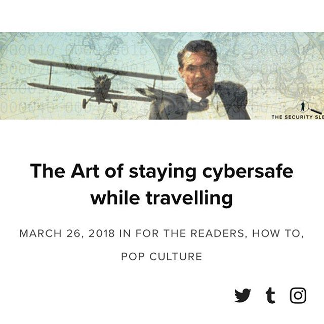 #newpost on how to stay #cybersafe while #traveling #blog #infosec #security #art #hacker #post #aricle #read #tips #travel #cybersecurity