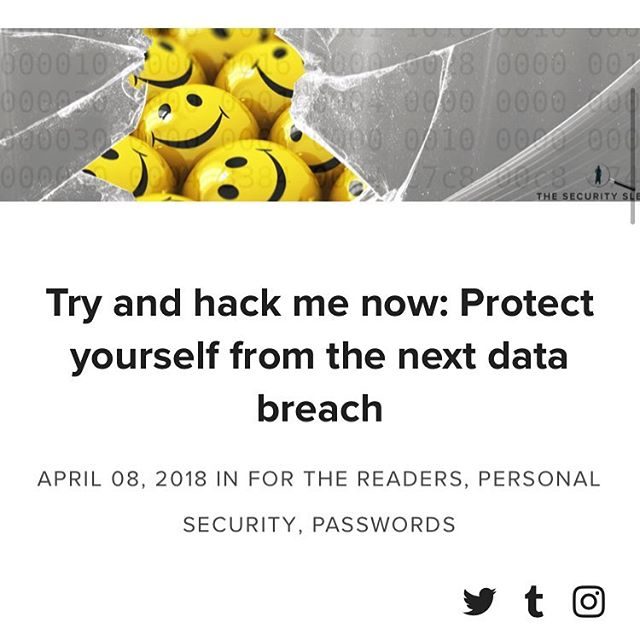 Just try and #hack me now . . . . https://www.security-sleuth.com/sleuth-blog/2018/3/11/dont-be-a-sucker-protect-yourself-from-the-next-data-breach . . . #congratsonmakingitthisfar