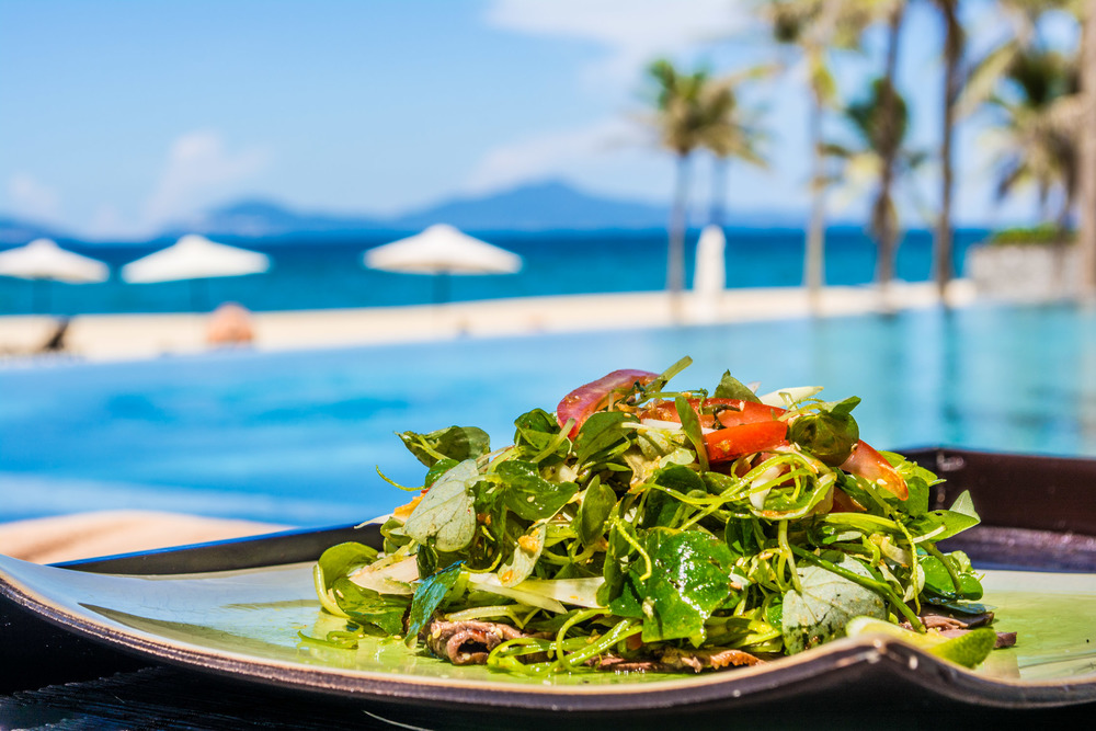 Morning Glory salad at The Nam Hai Resort in Hoi An, Vietnam