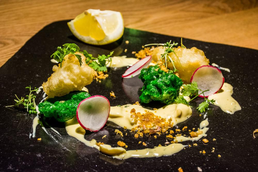 Dried fish and squid tempura