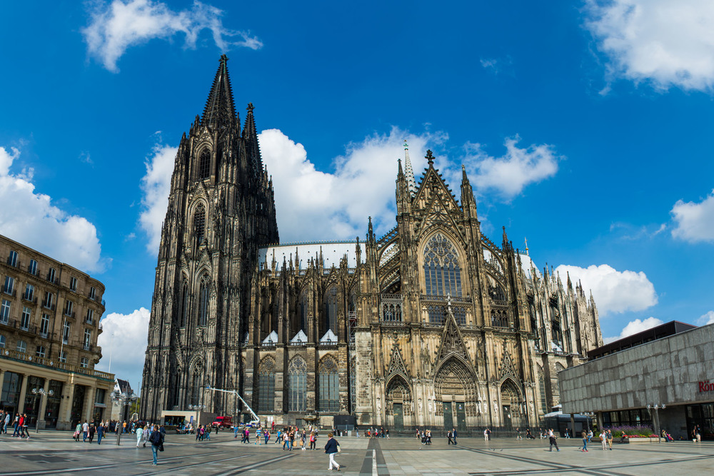 Seeing the Cologne Cathedral for the first time in Germany. The intricacy is simply breath-taking!