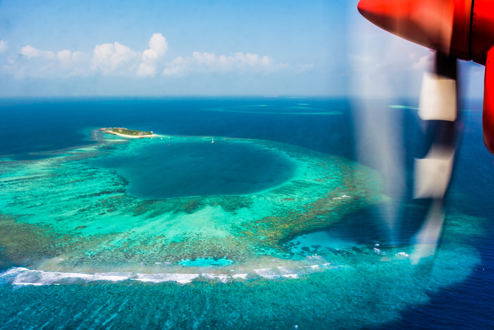 The Conrad Maldives is reachable by a 30 minute seaplane flight