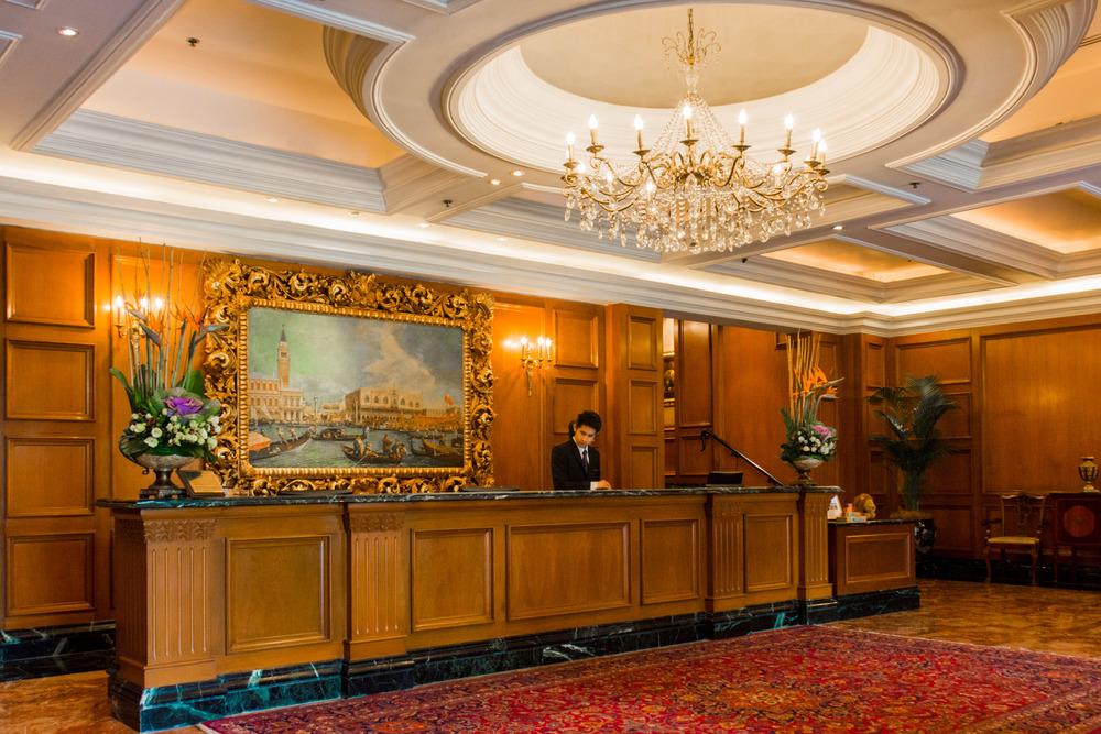 The lobby of the Ritz Carlton, Kuala Lumpur