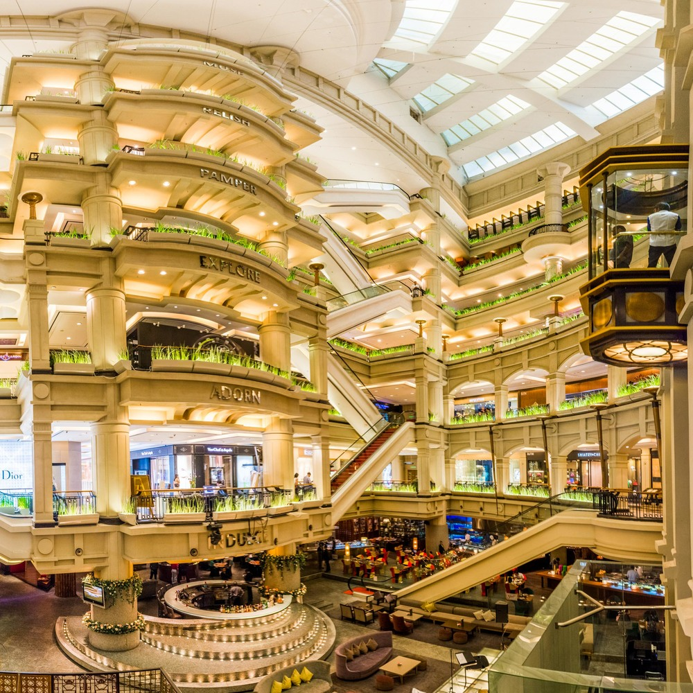 The inside of Starhill Mall, connected to the Ritz Carlton, Kuala Lumpur