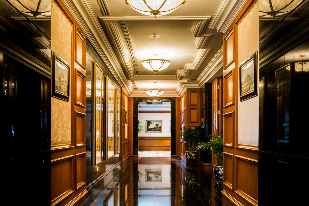 One of the many corridors of the Ritz Carlton, Kuala Lumpur