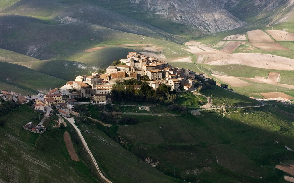 The view of Norcia, Italy