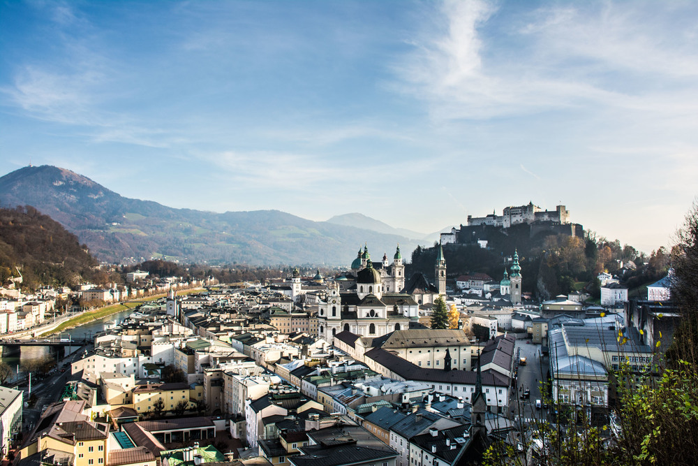 The historical part of Salzburg, Austria