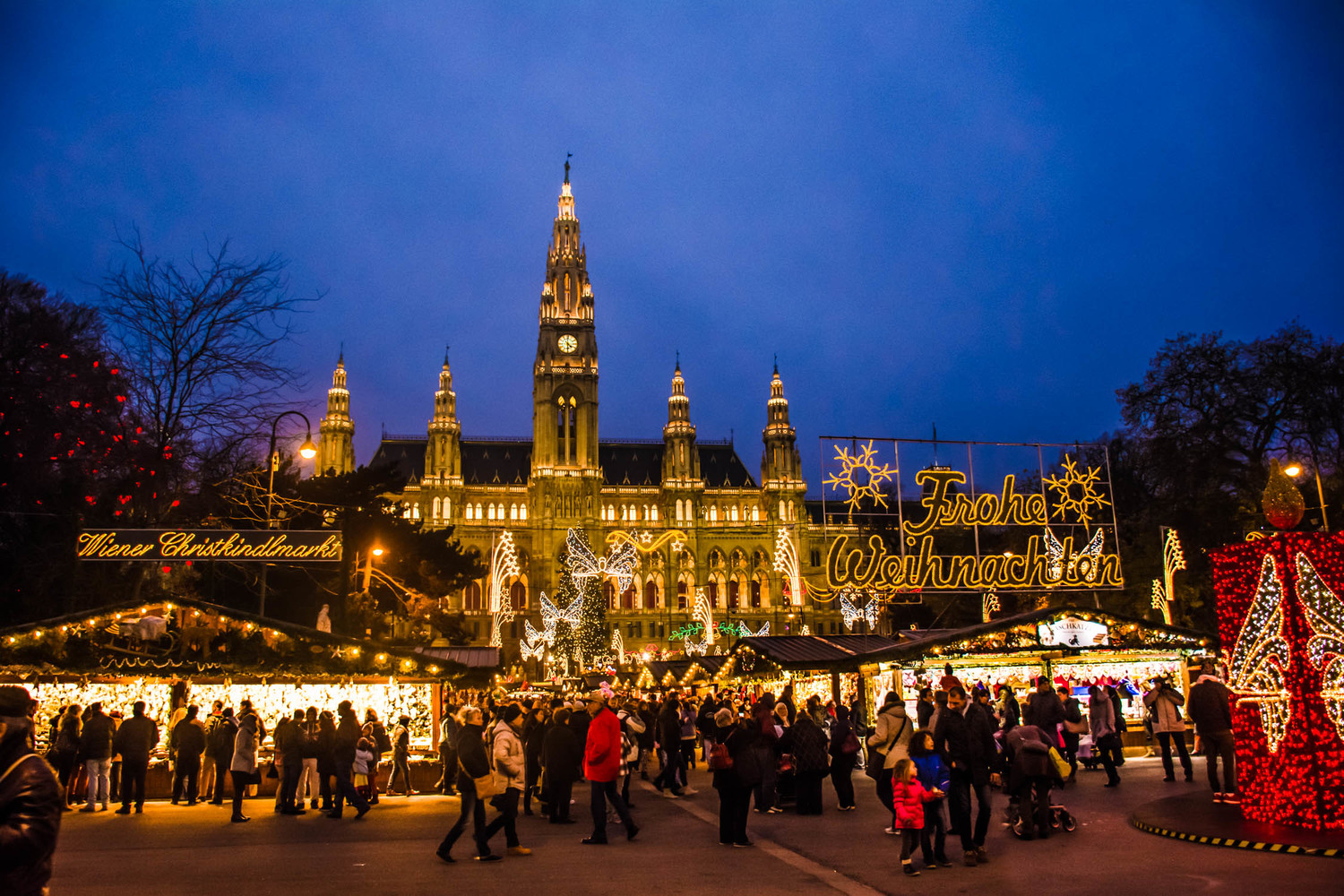 one of the many christmas markets taking over the streets - Best European Cities For Christmas
