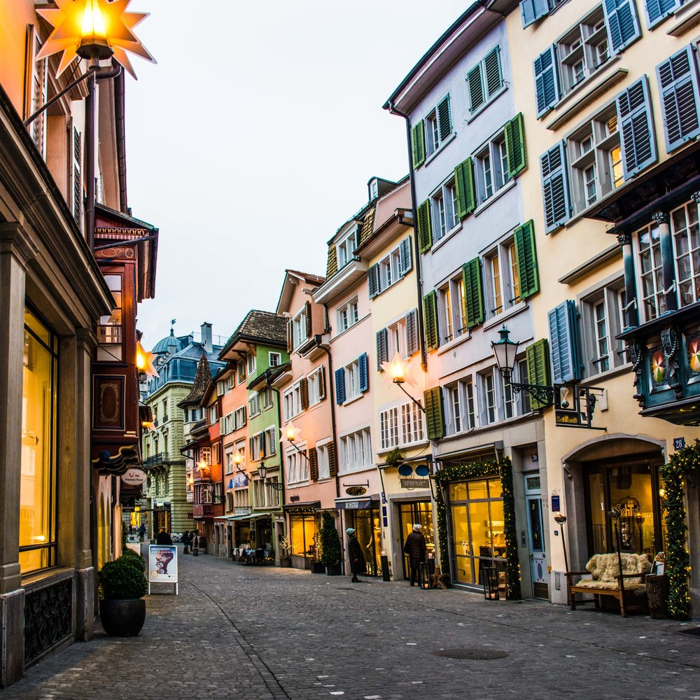 The charming streets of Zurich