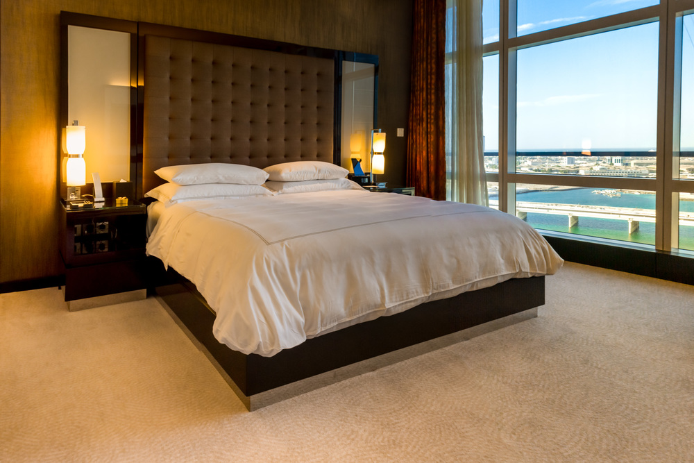 Our bedroom at the Rosewood, Abu Dhabi