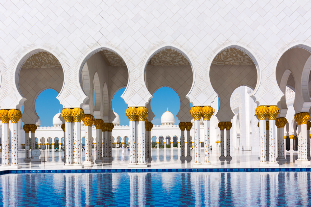 Sheikh Zayed Grand Mosque - an absolute must while visiting Abu Dhabi