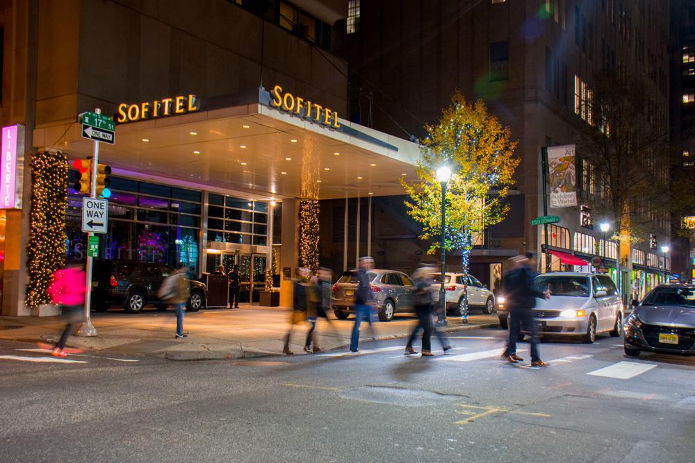 The entrance to the Sofitel Philadelphia