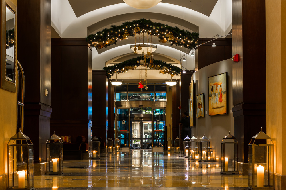 The lobby of the Sofitel, Philadelphia