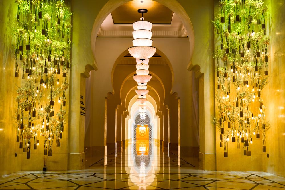 The lobby at the Four Seasons Dubai