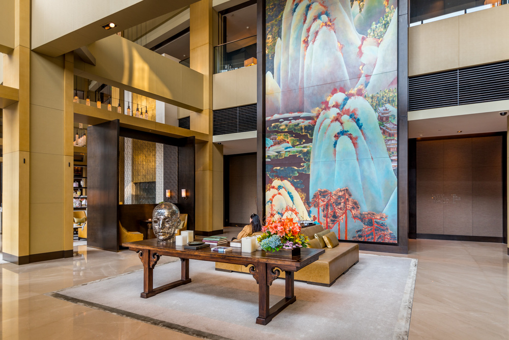 The lobby of the Rosewood Beijing
