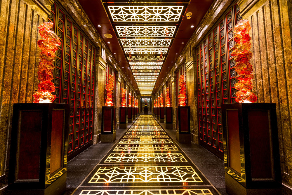 The elaborate entrance to Cai Yi Xuan at the Four Seasons Beijing