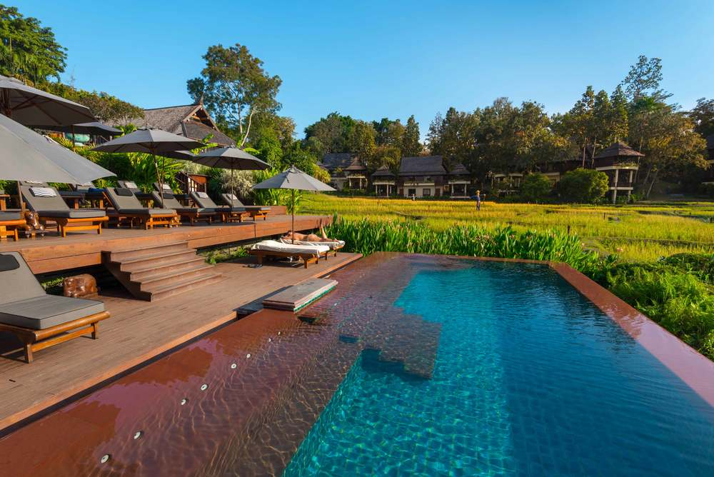 The infinity pool at Four Seasons Chiang Mai