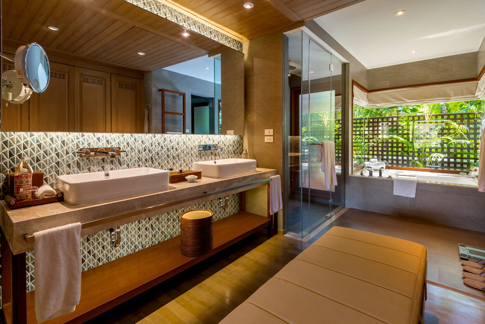 Our bathroom at Four Seasons Chiang Mai