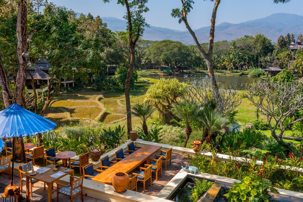 Our view at breakfast -Four Seasons Chiang Mai