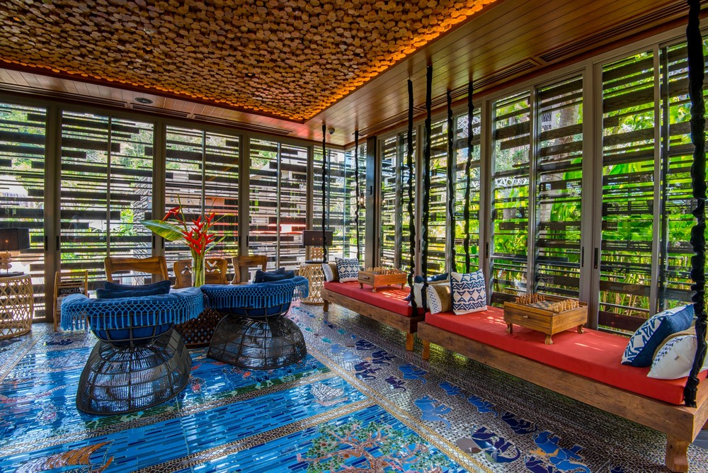 The lobby at  Keemala