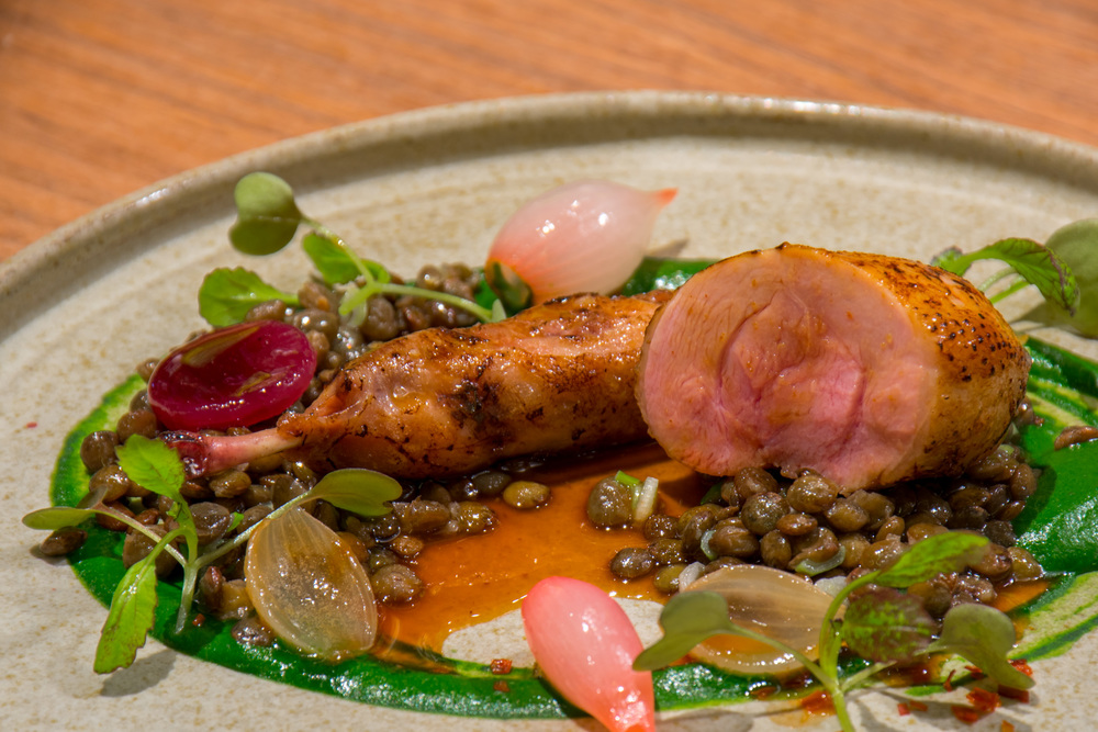 Quail over lentils at Costes Downtown in Prestige Hotel