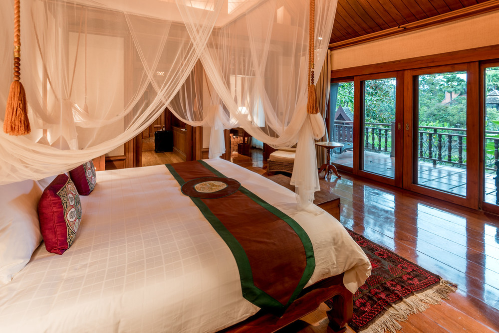 Our bedroom, located on the second floor of our villa