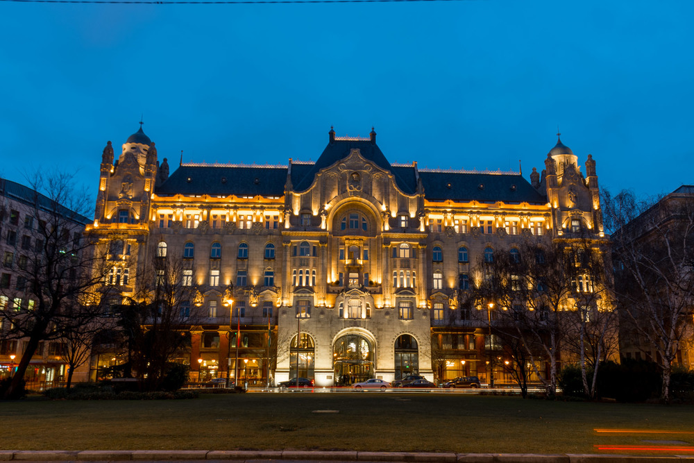 The facade of the Four Seasons Gresham Palace in Budapest