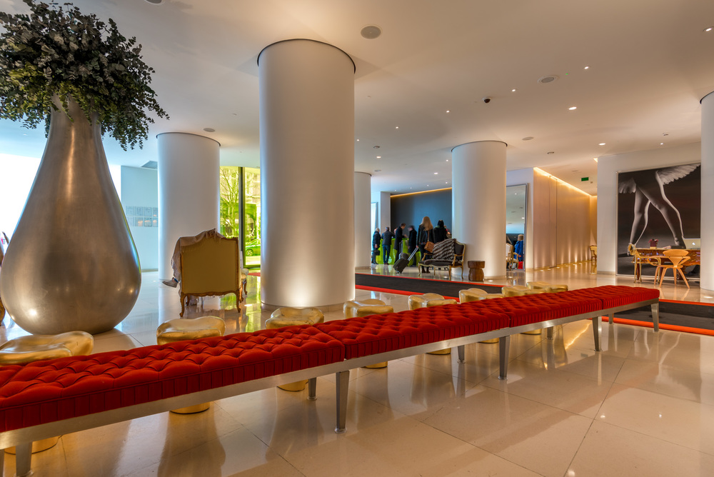 The lobby of the St Martins Lane Hotel in London