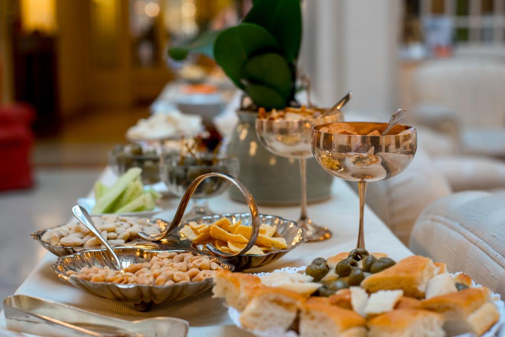 A beautiful aperitivo spread at Corona D'Oro