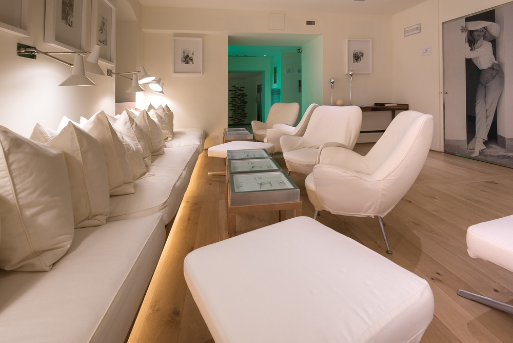 One of the many spaces available for guests to relax in at Hotel Continentale