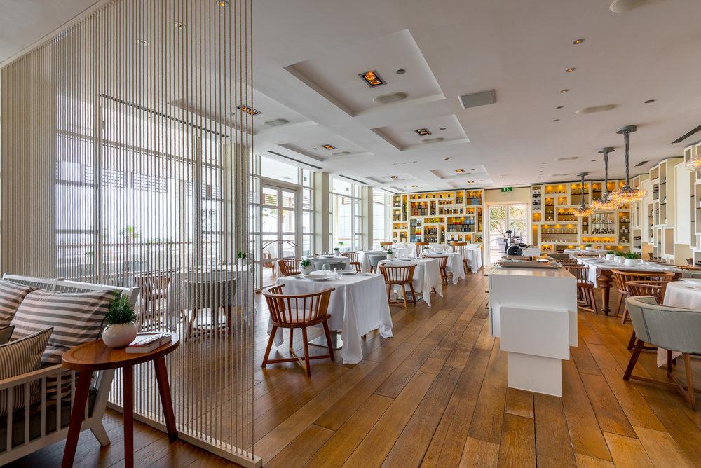 The interior of Enoteca at Hotel Arts