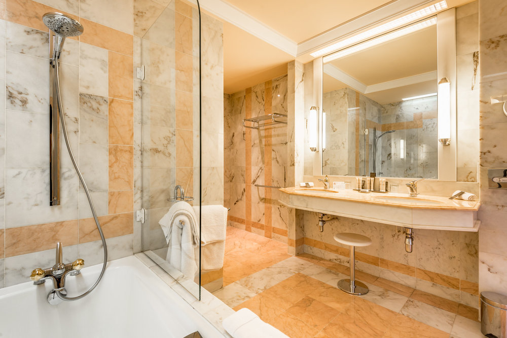 Our large bathroom at Villa Florentine in Lyon, France