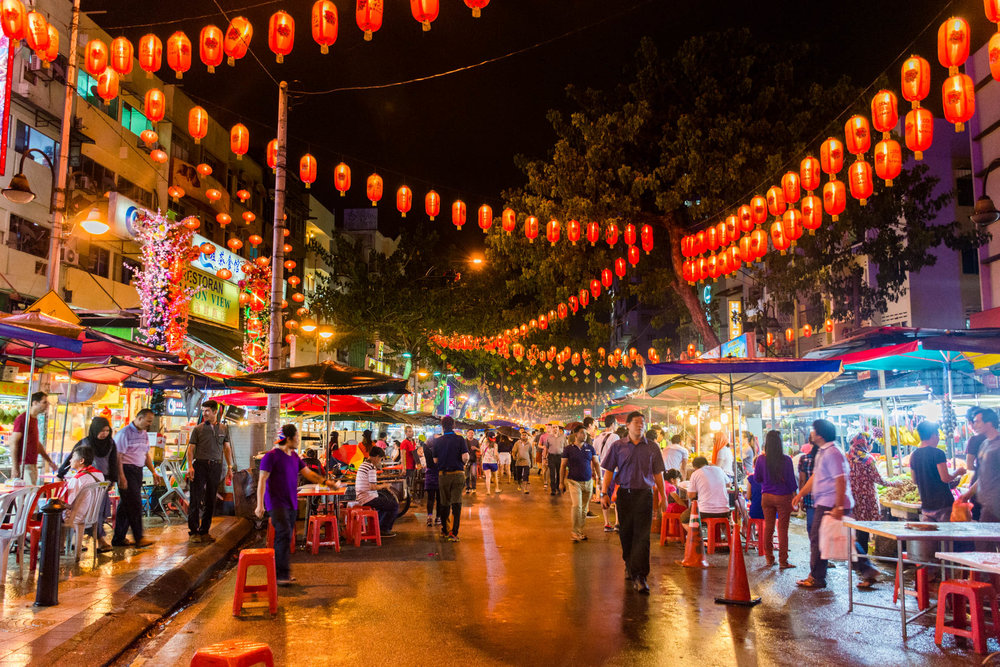 Jalan Alor - otherwise know and street food heaven in Kuala Lumpur, Malaysia