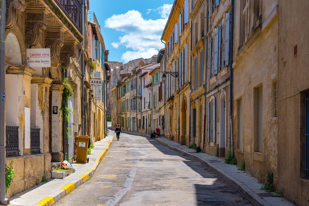 A quiet street in Arles, France