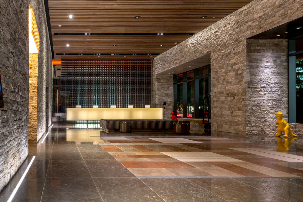 The lobby at EAST Miami