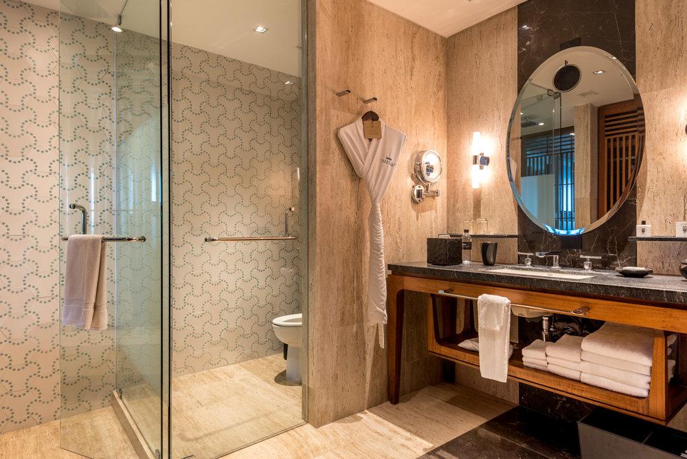 Our bathroom at Thompson Hotel, Playa del Carmen