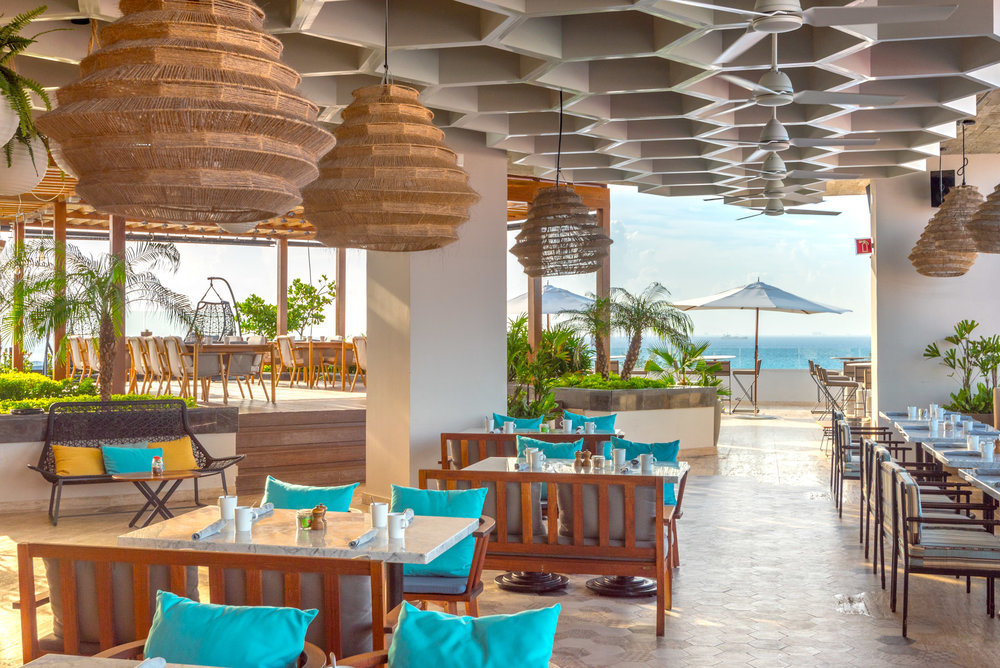 Every space had terrific views, at  Thompson Hotel, Playa del Carmen