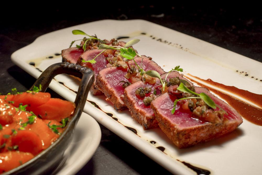 Perfectly seared tuna from BLT inside The Ritz-Carlton, San Juan