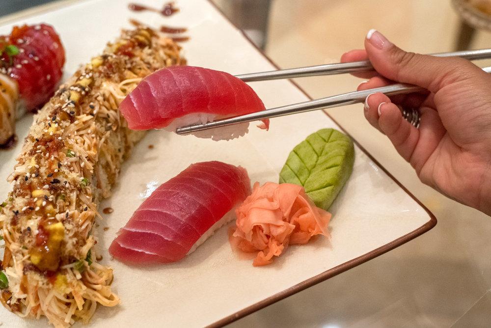 Sushi being served at The Ritz-Carlton, San Juan
