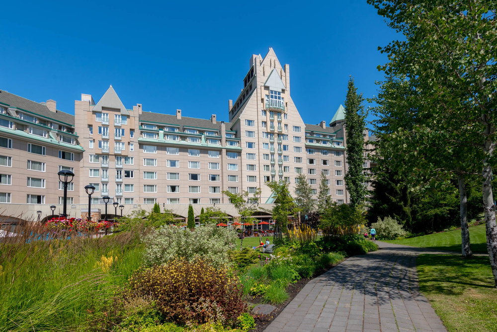 The front of Fairmont Chateau Whistler