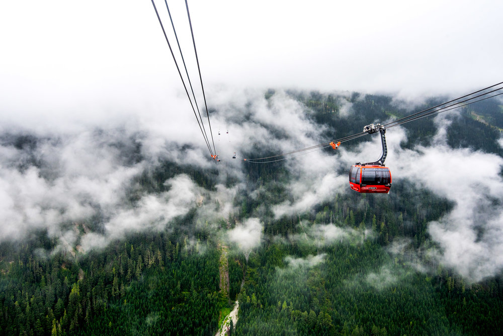 The Peak2Peak gondola is the world's longest and highest lift!