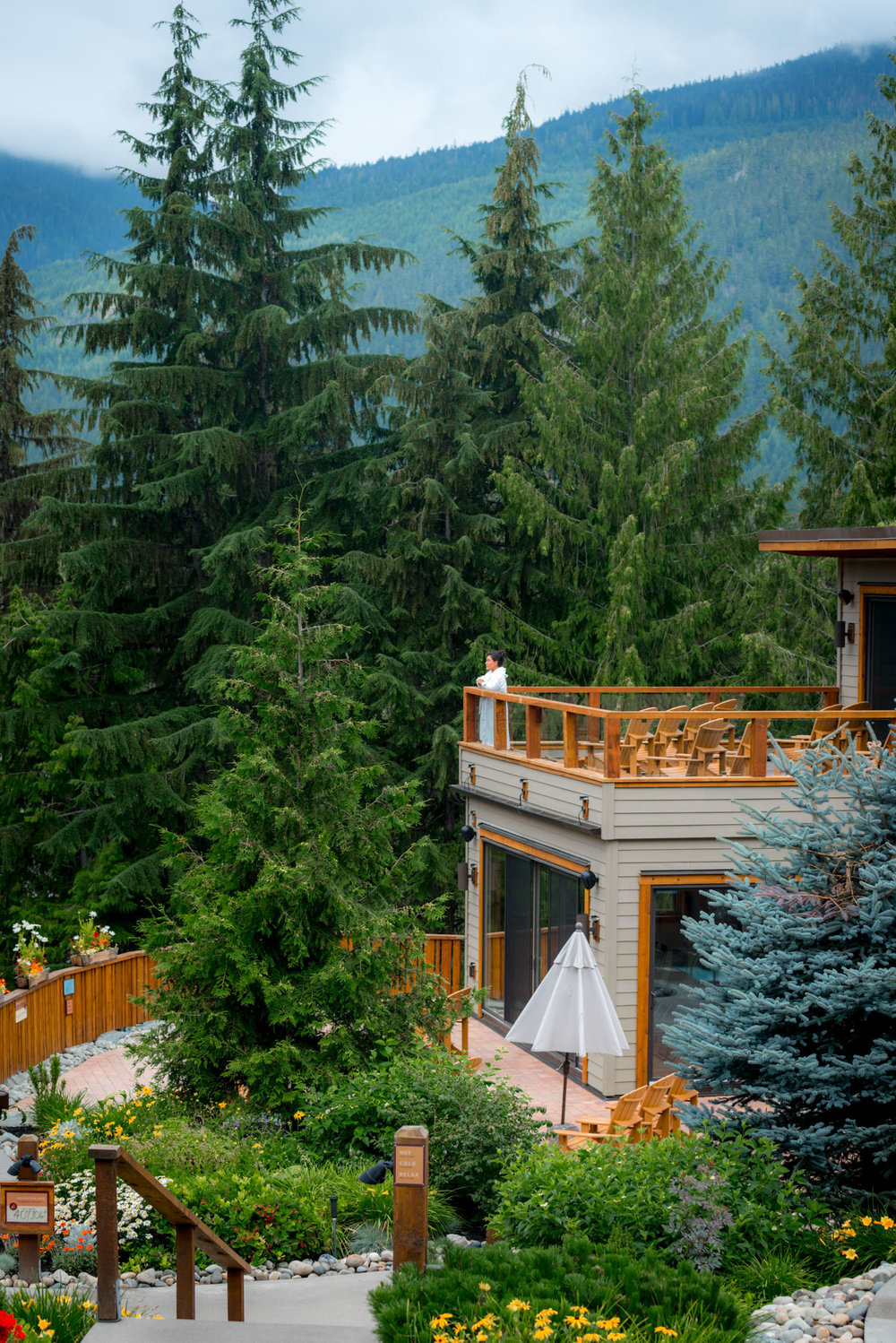 Views of Scandinave Spa in Whistler, Canada