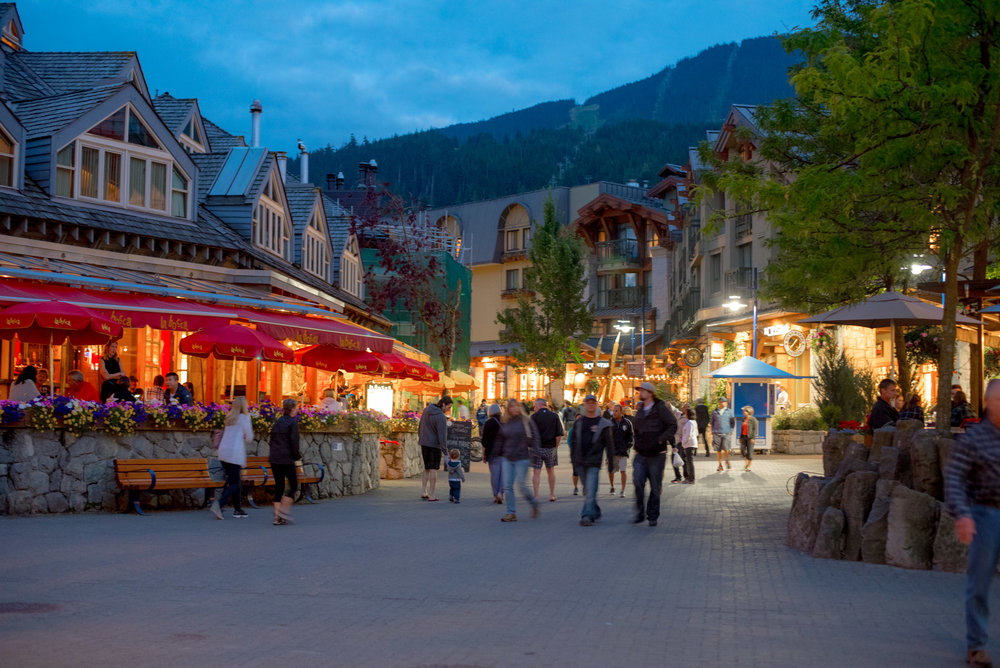 Whistler Village during the Summer